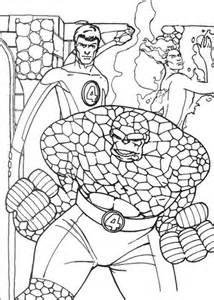 Mr Fantastic The Human Torch And The Thing Coloring Page The Thing Coloring Pages