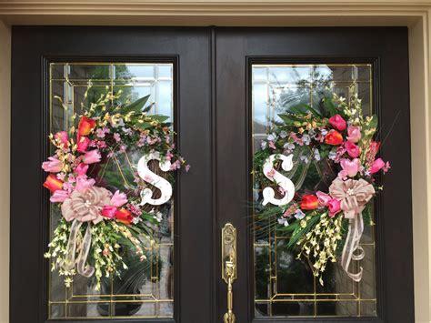 wreath ideas for front door both wreaths for double doors door wreaths decorations