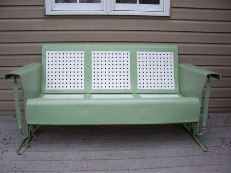Vintage metal glider patio furniture patio building
