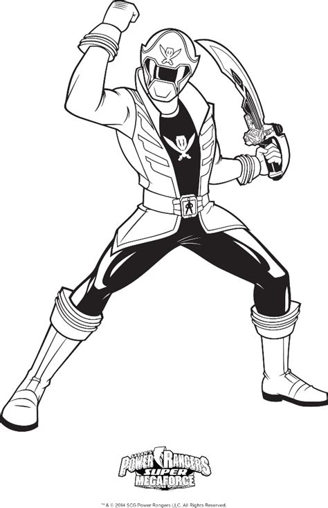 power rangers halloween coloring pages power rangers megaforce coloring pages