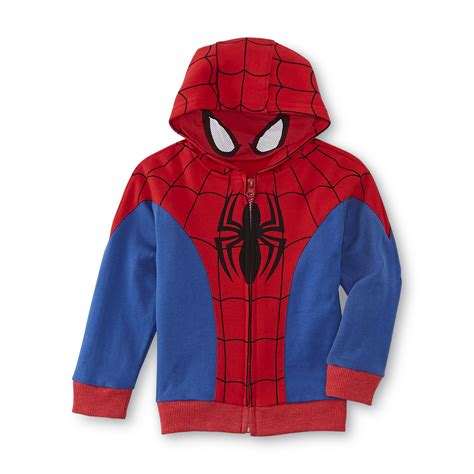 Zipper Marvel Jaket Hoodie marvel spider toddler boy s costume hoodie jacket shop your way shopping earn