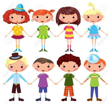 dibujos de ninos y ninas las ni 241 as y los ni 241 os de dibujos animados de dibujos