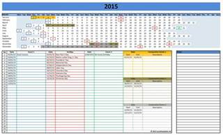 2015 Calendar Spreadsheet 2016 Calendars Excel Templates