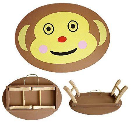 Meja Lipat Karakter Anak meja lipat karakter monkichi mainan kayu