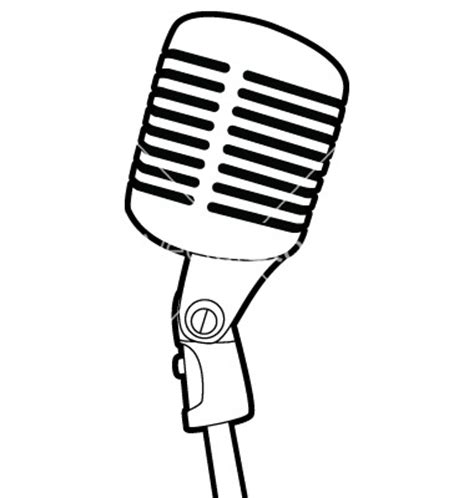microphone tattoo template radio microphone vector clipart panda free clipart images
