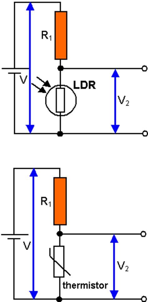 light dependent resistor voltage divider schoolphysics welcome