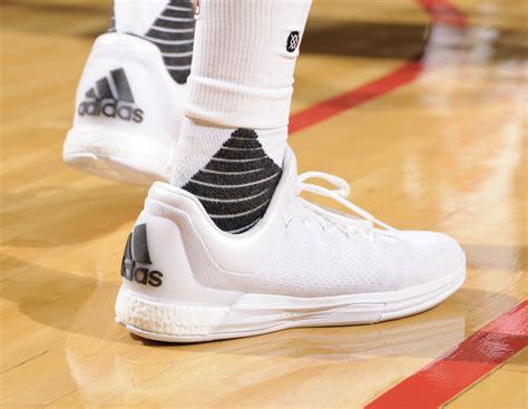 what basketball shoes does harden wear harden will wear these all white adidas this year