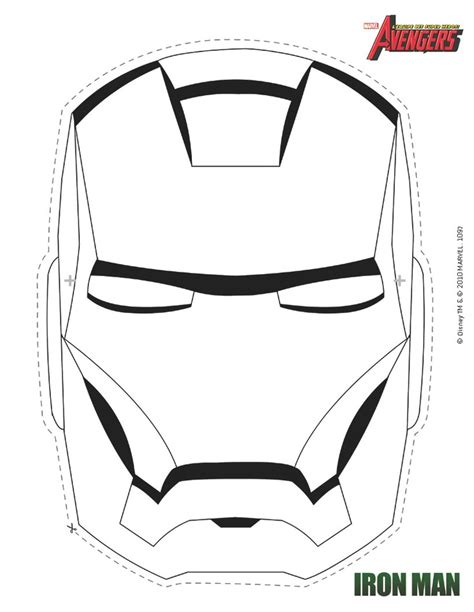 avengers iron man mask coloring coloring pages