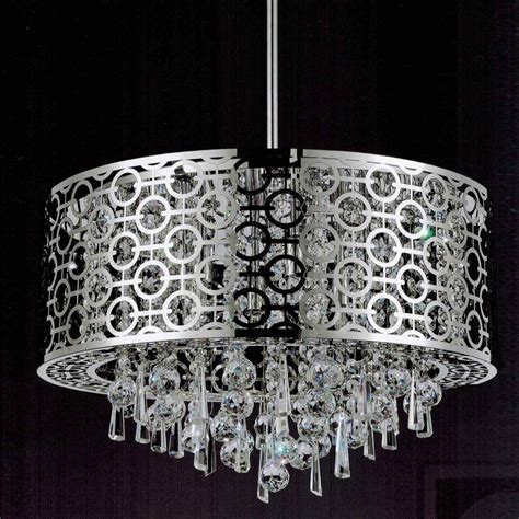 Brizzo Lighting Stores 20 Quot Forme Modern Laser Cut Drum Drum Shade Pendant Chandelier
