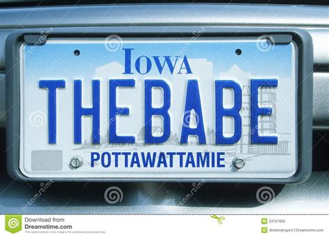 license plate in iowa editorial photography image 23167902