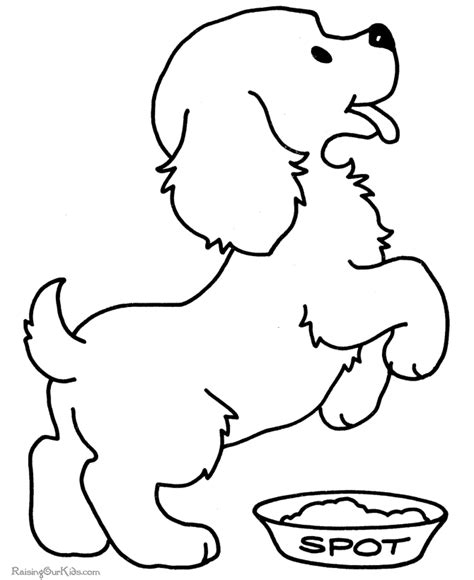 pictures of dogs to color puppy picture coloring pages