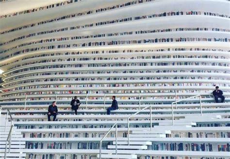 Corner Bookshelfs China Just Unveiled The Most Futuristic Library Ever