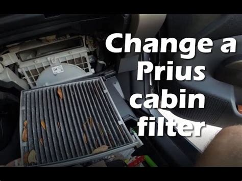 Toyota Prius Cabin Air Filter by Replace Cabin Air Filter Toyota Prius