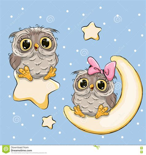 Owl Lovers by Valentine Card With Lovers Owls Stock Vector Image 78202801