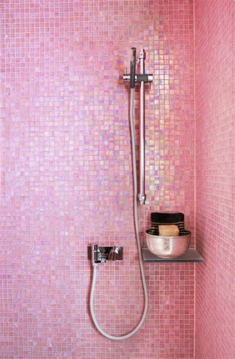 Pink Tile Bathroom Ideas Rosa Wandfarbe 25 Super Sch 246 Ne Beispiele