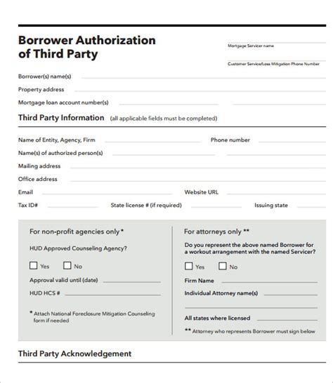 3rd authorization letter for bank of america sle third authorization letter 8 free
