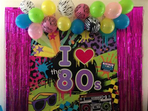 80s themed decorations my 80 s decorations photo booth wall 80 s