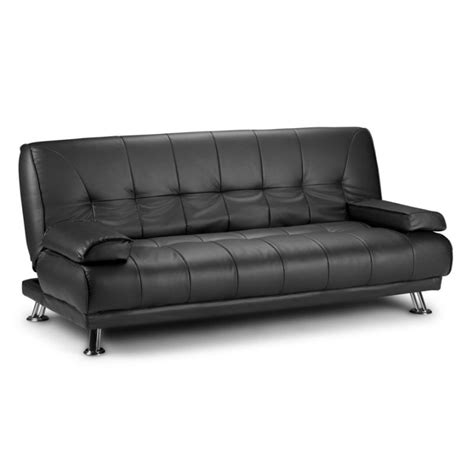 westminster futon style pu leather lounge sofa bed  black buy sofa beds