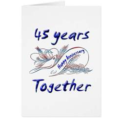 45th anniversary greeting card zazzle
