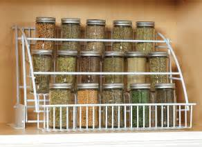 Kitchen Cabinet Spice Organizer by Rubbermaid Spice Rack Storage Cabinet Pull Down Rack Shelf