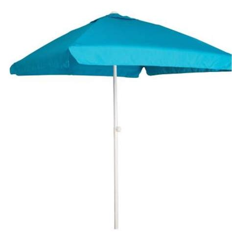 blue and white patio umbrella buoy 7 1 2 ft square patio umbrella in blue and white with aluminum pole bb131100