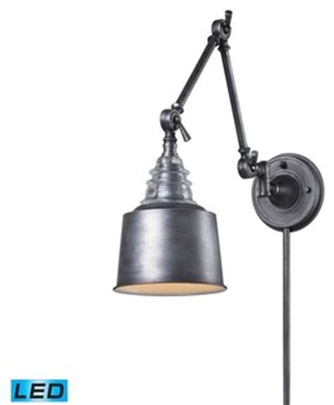 Industrial Swing Arm L by Elk Lighting 66825 1 Insulator Glass Traditional Swingarm
