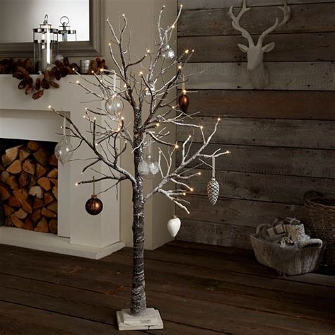 tree with ornaments and lights rustic tree ideas tree lights with