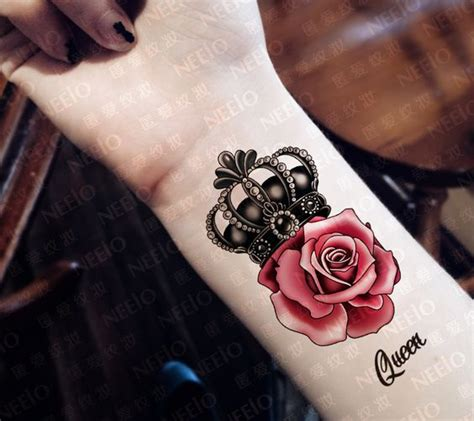 rose and crown tattoo designs picture of crown and