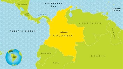 map of columbia south america columbia country map my