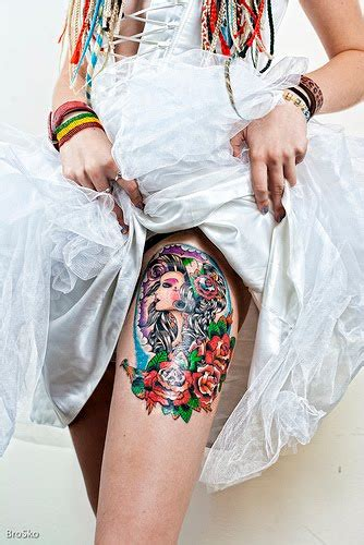 women s upper thigh tattoos designs thigh tattoos for
