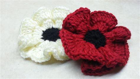crochet diy how to crochet easy poppy flower tutorial diy crochet