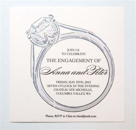 Engagement Invitation Template 25 best ideas about engagement invitation template on