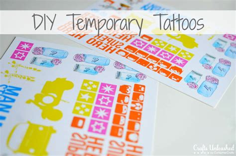 Make Your Own Temporary Paper - temporary tattoos tutorial make your own with this easy