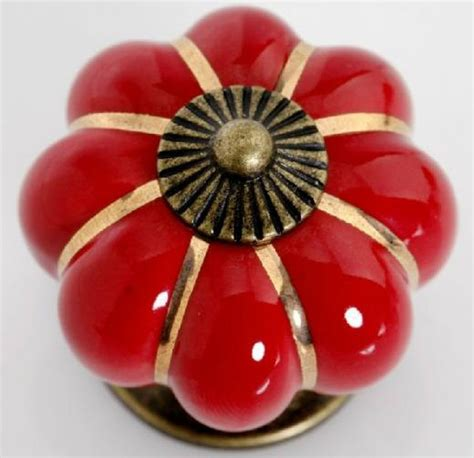 Red Cabinet Knobs For Kitchen | red kitchen cabinet knobs pulls handles ceramic dresser knob