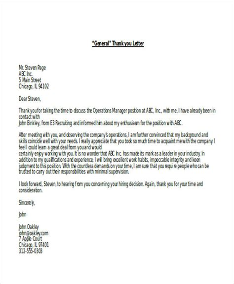 thank you letter after meeting government 69 thank you letter exles