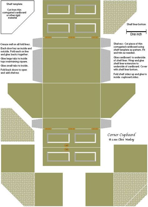 cardboard dolls house furniture templates http cwoolse tripod miniprintables images cupboard