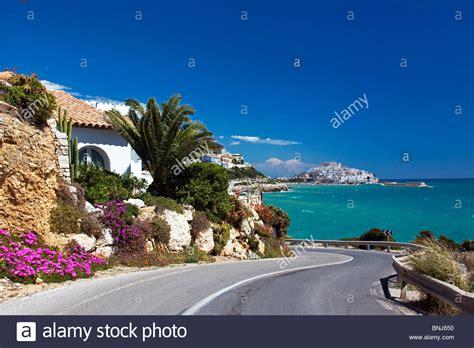 buy house in valencia spain spain valencia region area castellon province peniscola town city sea stock photo