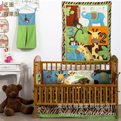 baby crib bedding neutral unisex 8 pieces unisex baby bedding set 3d giraffe elephants