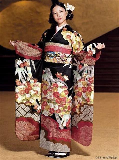 Kimono Obi japanese yuriko yoshitaka in silk furisode