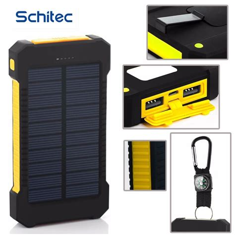 Power Bank Solar pover bank powerbank 20000mah portable solar power bank