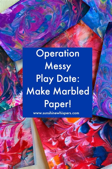How To Make Marbled Paper With - operation play date make marbled paper