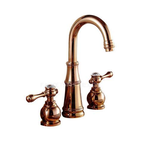 rose gold  hole vintage bathroom sink faucets