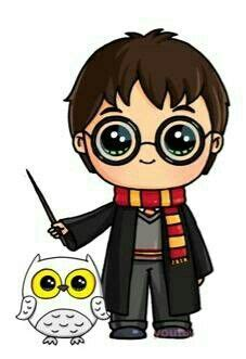 doodle zauberer hedwig and harry potter crafting ideas