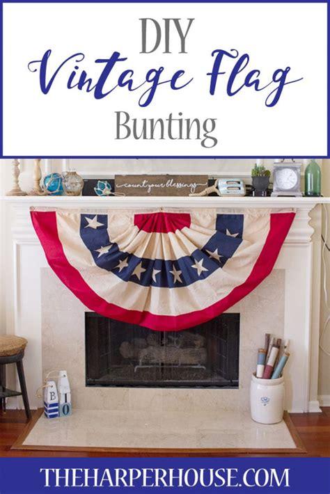 diy vintage flag bunting the house