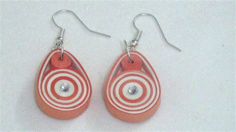 easy trendy paper quilling earring tutorial