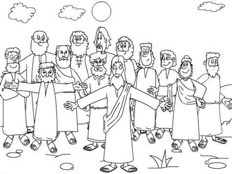 Coloring Page 12 Disciples by Twelve Disciples Coloring Page Coloring Home