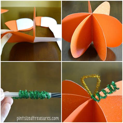 How To Make A Pumpkin Out Of Paper - easy paper pumpkin craft 183 pint sized treasures
