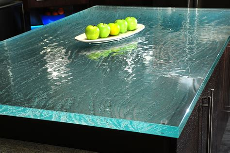 glas stab countertops glass countertops for modern kitchen ideas furniture