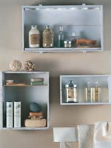 Bathroom Makeup Storage Ideas Wall Mounted Box Shelves A Trendy Variation On Open Shelves