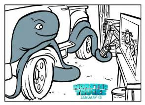 monster trucks movie printable coloring activity sheets